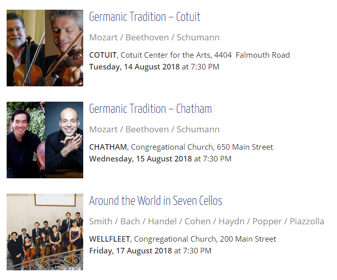 Week 3 concerts