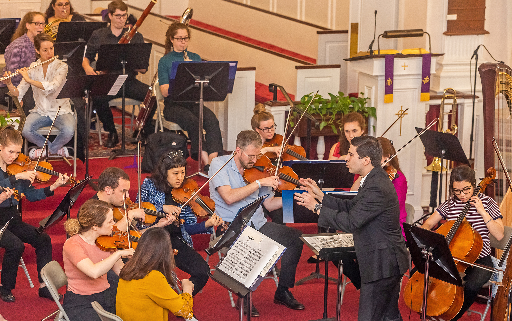 Founding Conductor Matthew Scinto Directing Cape Cod Chamber Orchestra
